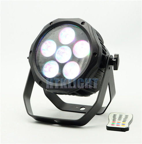 Wireless 6 In 1 Battery Powered RGB LED Stage Light For Wedding 6 * 18W