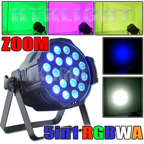 Ip20 Theatre Spot Lights , Zoom LED Stage Spotlights 18x15 Watt RGBWA Changeable